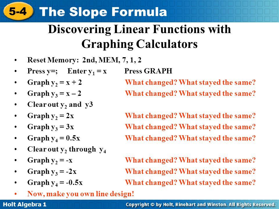 5 4 the slope formula warm up lesson presentation lesson quiz 27 discovering ccuart Choice Image