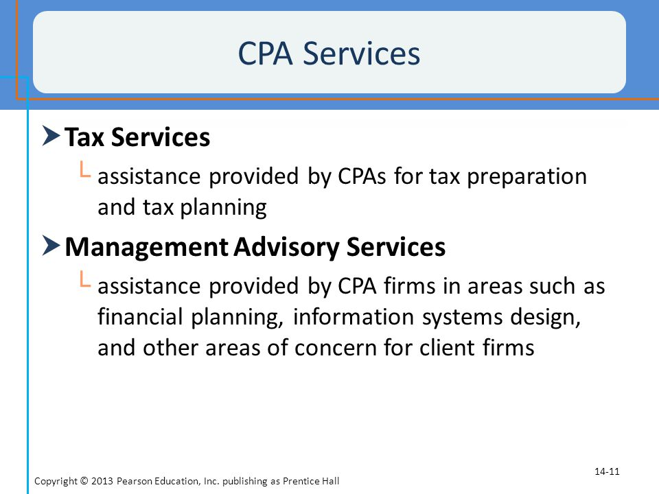 CPA Services Tax Services Management Advisory Services