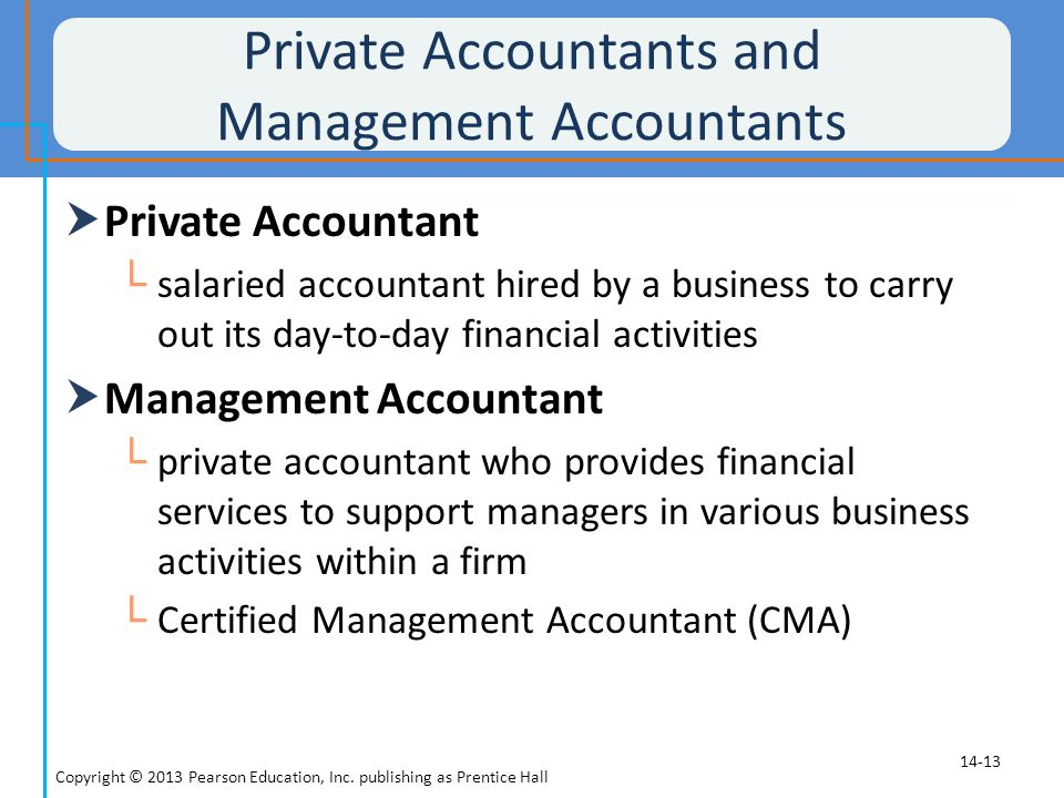 Private Accountants and Management Accountants