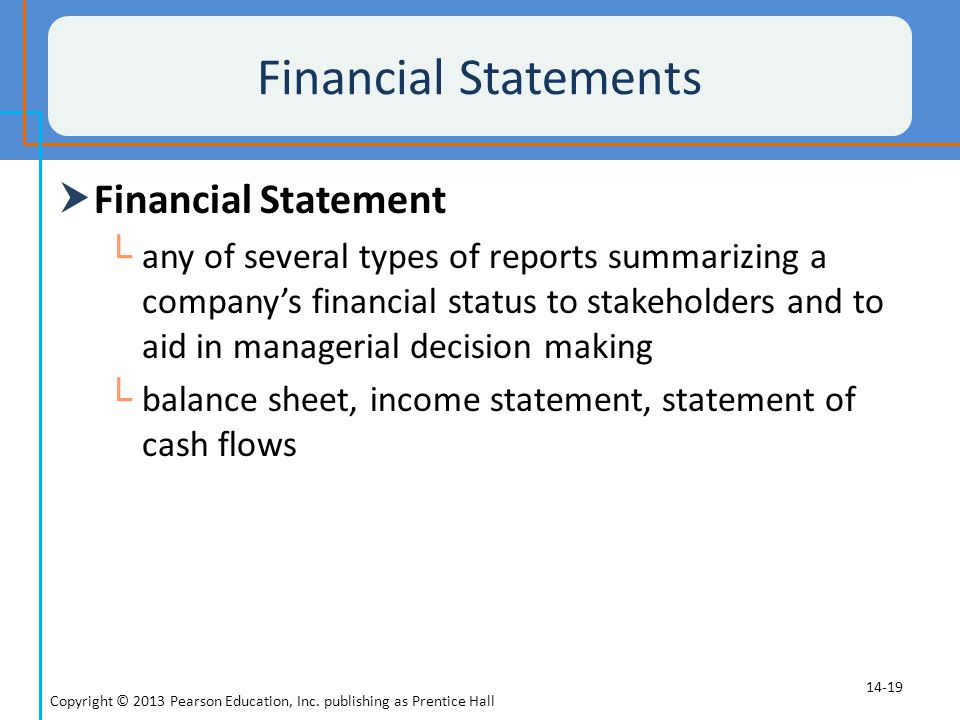 Financial Statements Financial Statement
