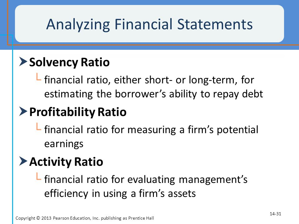 Analyzing Financial Statements