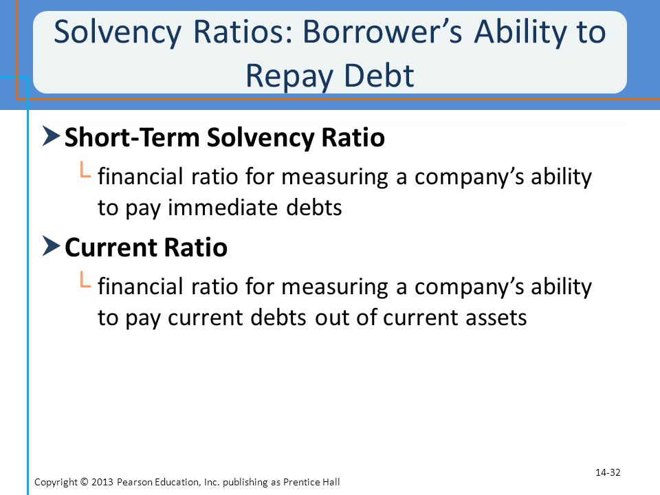 Solvency Ratios: Borrower's Ability to Repay Debt