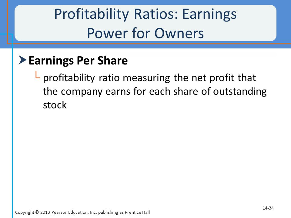 Profitability Ratios: Earnings Power for Owners