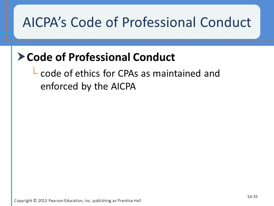 AICPA's Code of Professional Conduct