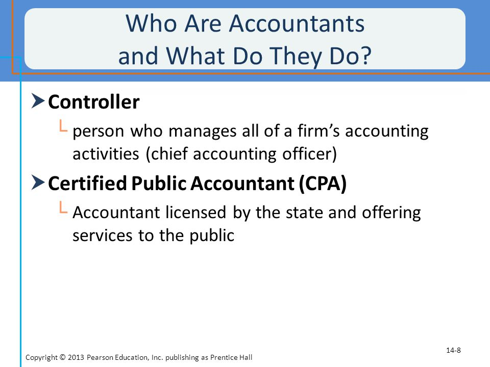 Who Are Accountants and What Do They Do