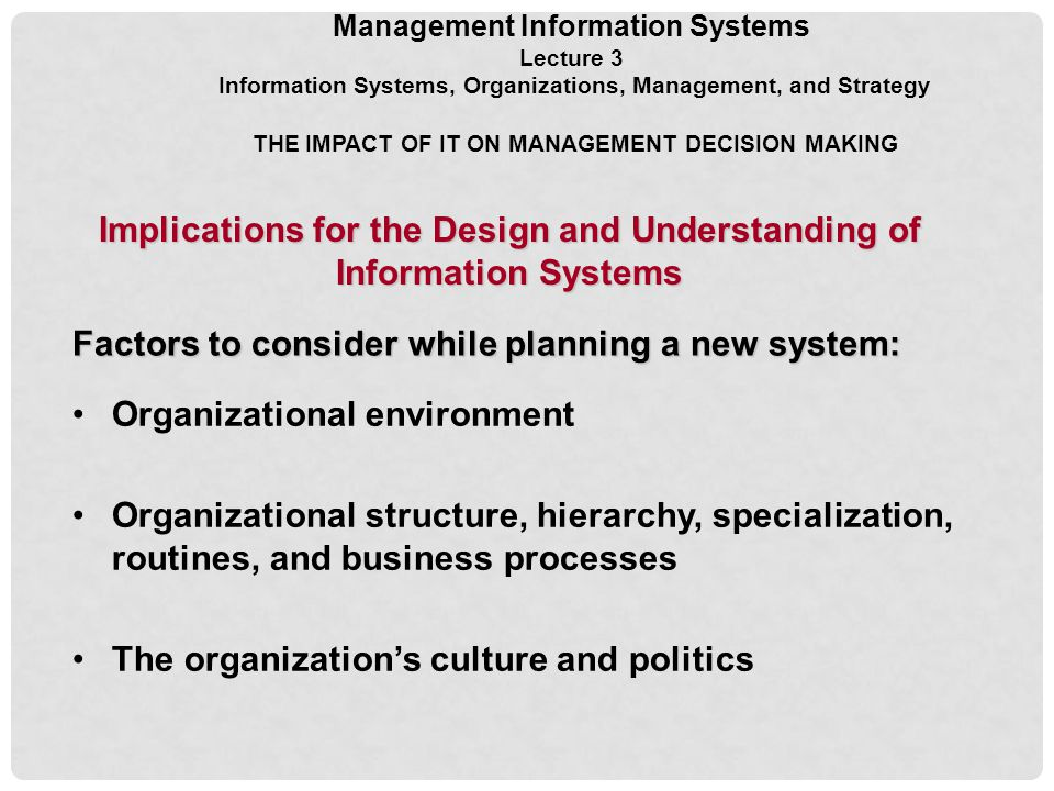 the impact of management information system