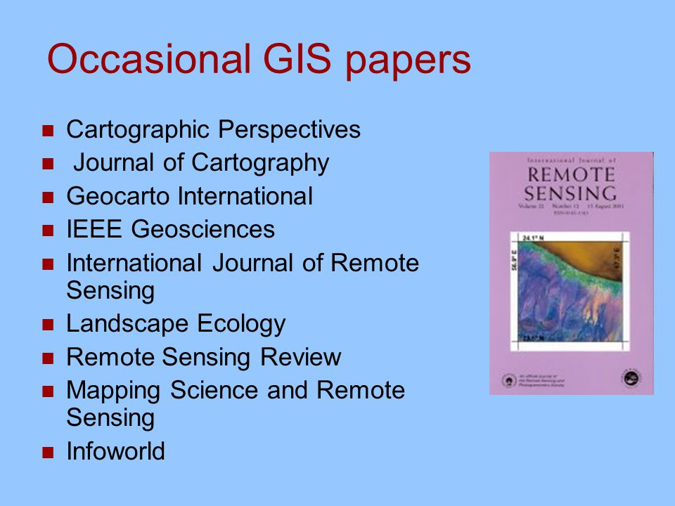 Research papers in remote sensing of tropical coastal environments