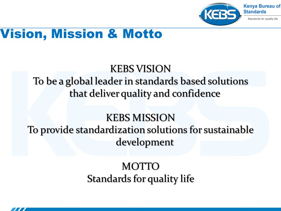 Kebs Role In Standardization And Enforcement Of Food