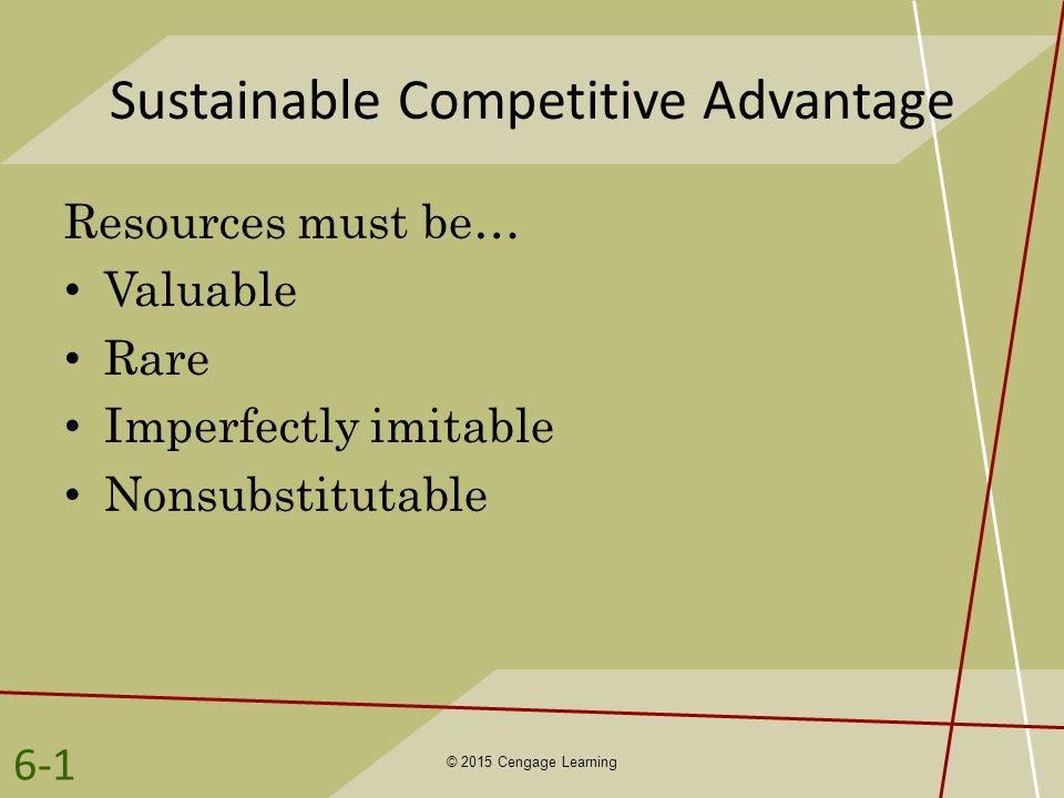 can competitive advantage be sustainable Competitive advantage – creating and sustaining superior performance by michael e porter is a business management book that looks to take analytical frameworks for competitive strategy and show how they can be applied to create and sustain competitive advantage competitive strategy and.