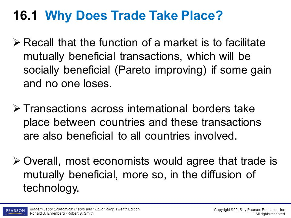 The advantages of trade