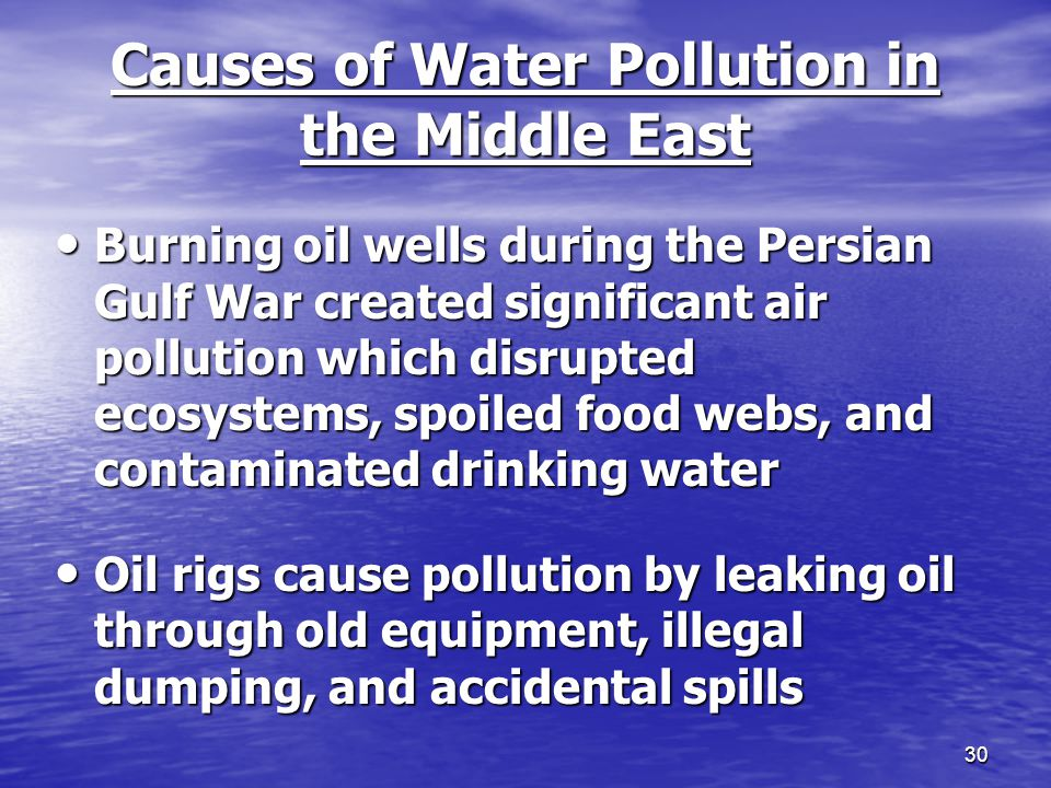 air and water pollution the gulf The bp oil spill in the gulf of mexico raised some environmental issues, each of them raising questions related to the long-term effects of the spill and the potential to affect humans, too about latest news soil air water food radiation.