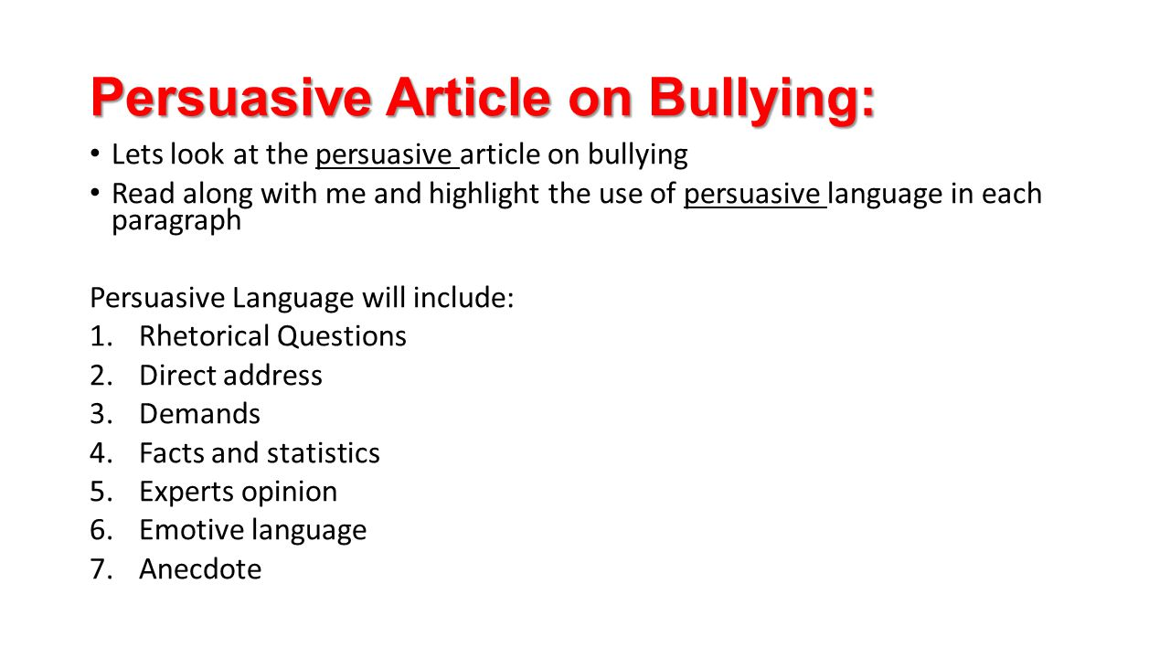 persuasive writing article What is persuasive writing checklist and further reading persuasive writing uses words to convince the reader to listen or to act great business writers use persuasive writing in proposals, articles, newsletters, memos.