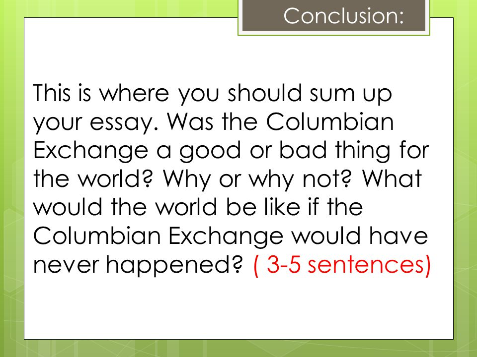 Demographic Effects of the Columbian Exchange Paper