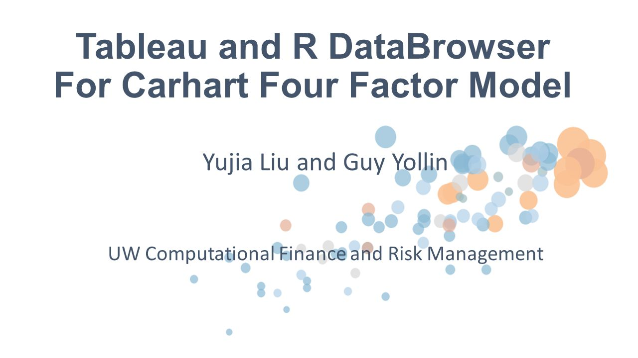 Tableau and R DataBrowser For Carhart Four Factor Model