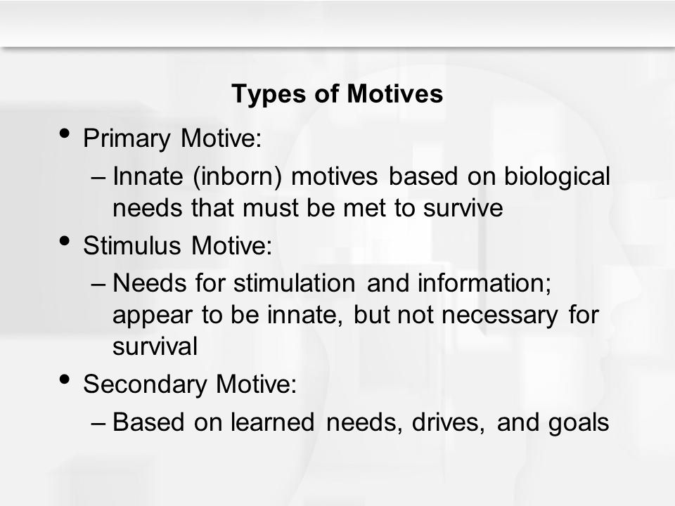 primary and secondary motives pdf