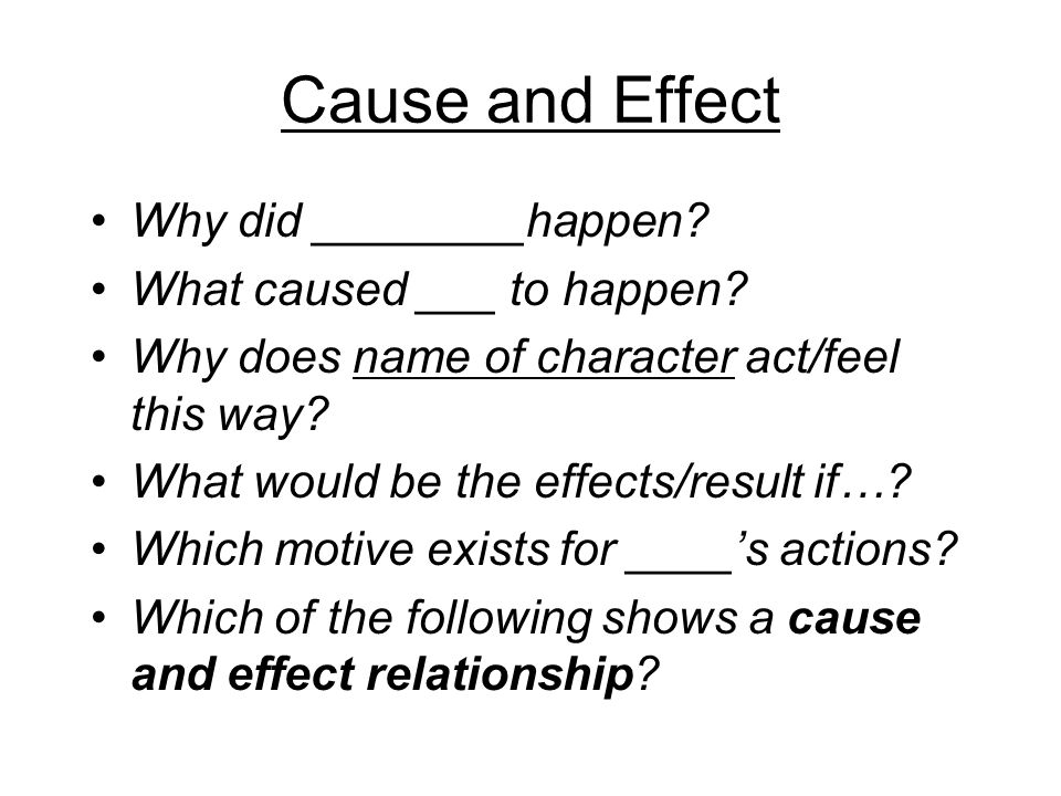 ways of expressing cause and effect relationship