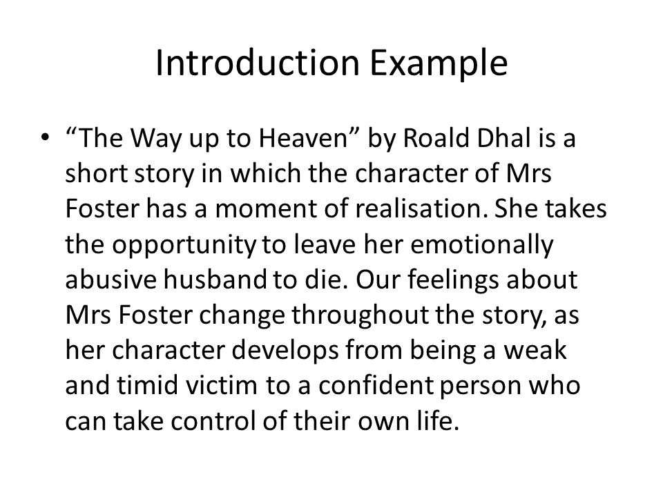 """The Way Up To Heaven"""" Essay Plan. - Ppt Download"""