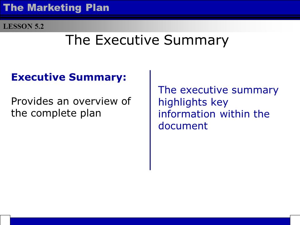Lesson Components Of An Effective Marketing Plan  Ppt Download