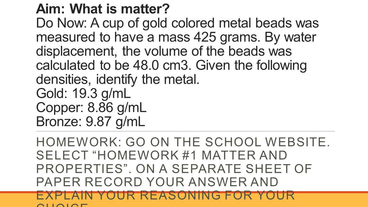 1 Aim: 29 How To Measure Volume?