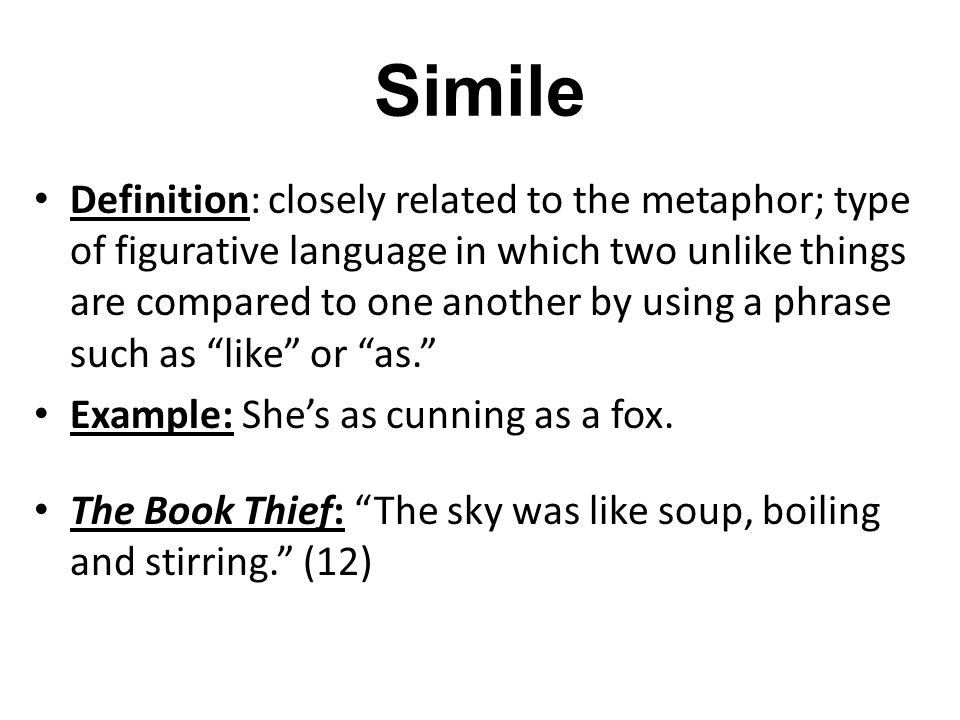 Simile Definition And Examples Image Collections Example Cover