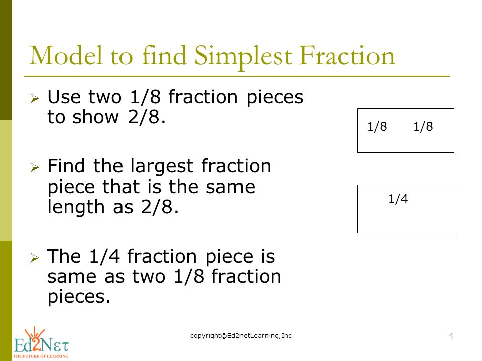 FRACTIONS IN SIMPLEST FORM - ppt video online download