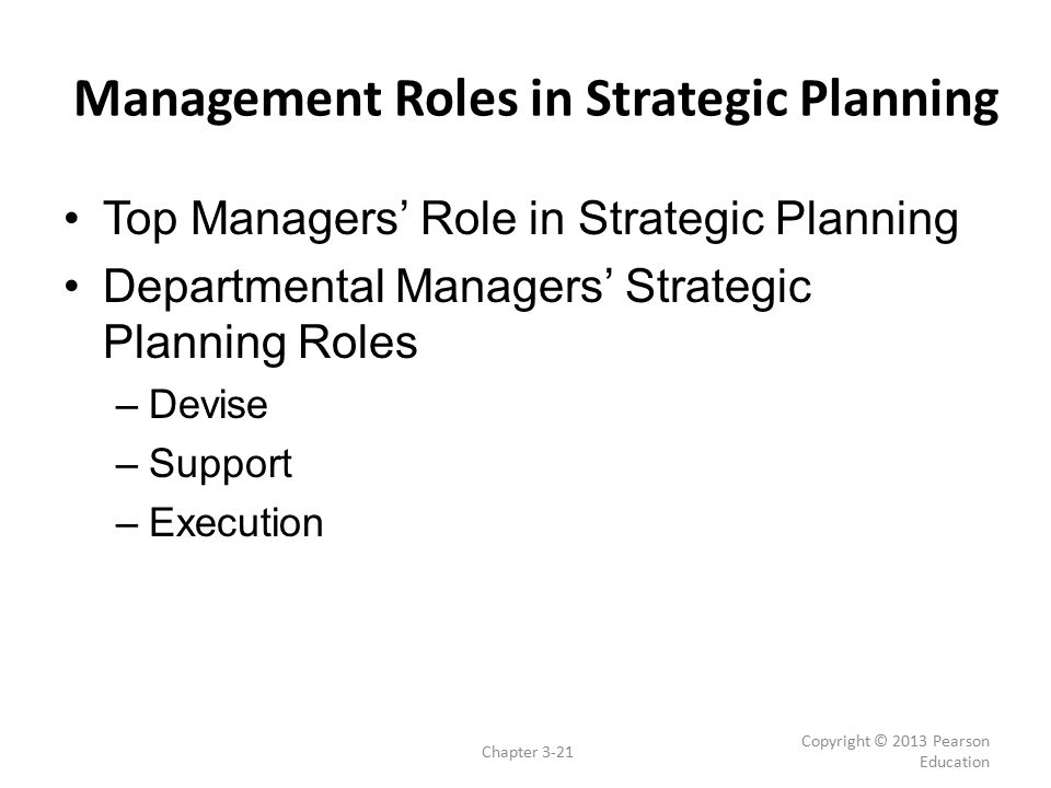 Management Roles in Strategic Planning