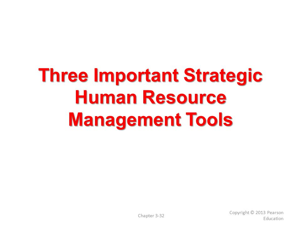Three Important Strategic Human Resource Management Tools