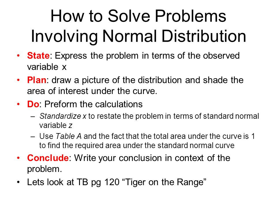 Normal distribution solved problems