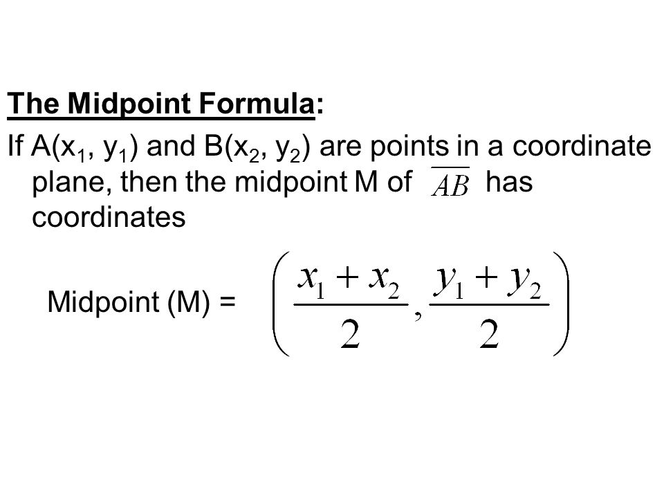 Lesson 13 Use Distance and Midpoint Formulas ppt video online – Midpoint Formula Worksheet