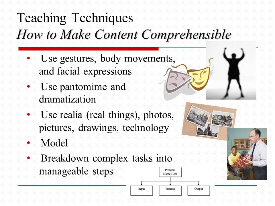 Teaching Techniques How to Make Content Comprehensible
