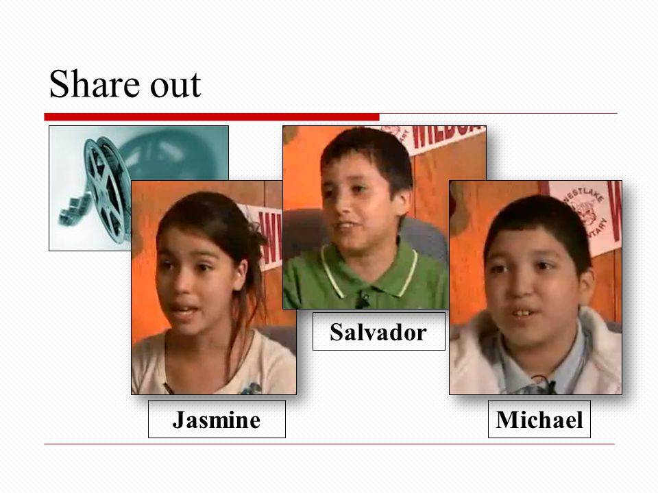 Share out Salvador Jasmine Michael 2 min