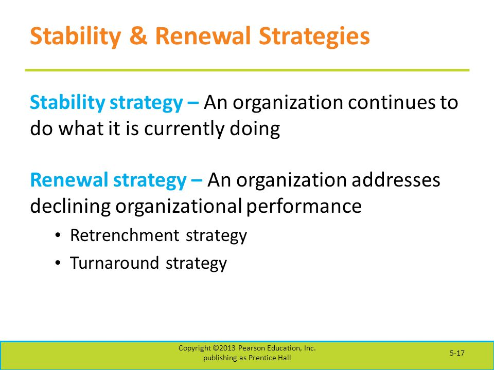 Stability & Renewal Strategies