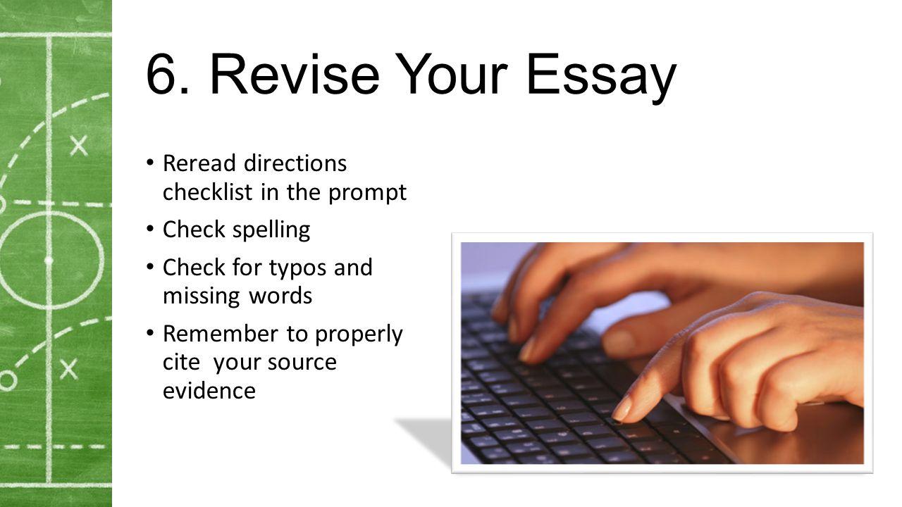 revise your essay