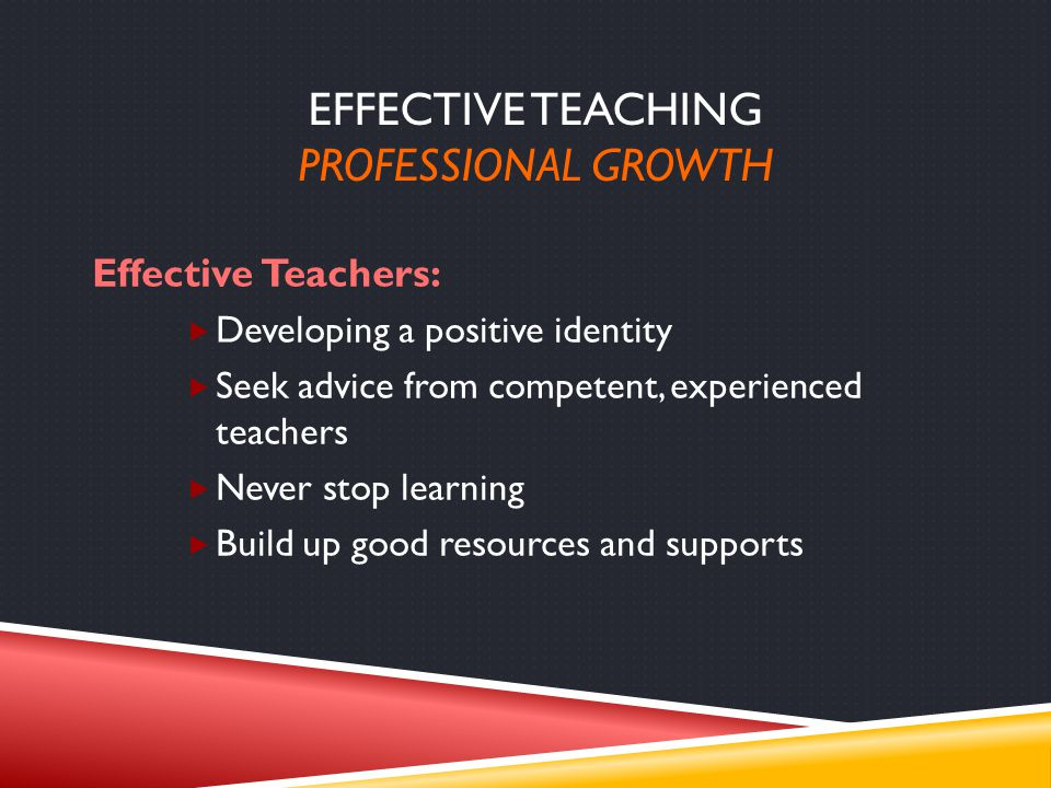 Effective Teaching PROFESSIONAL GROWTH
