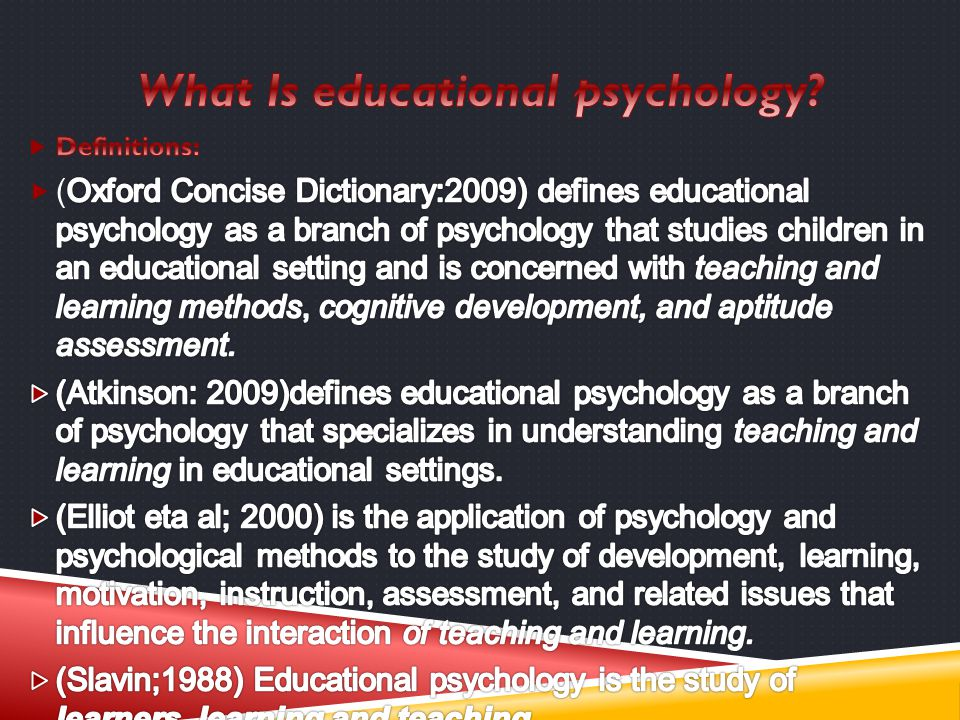 What Is educational psychology