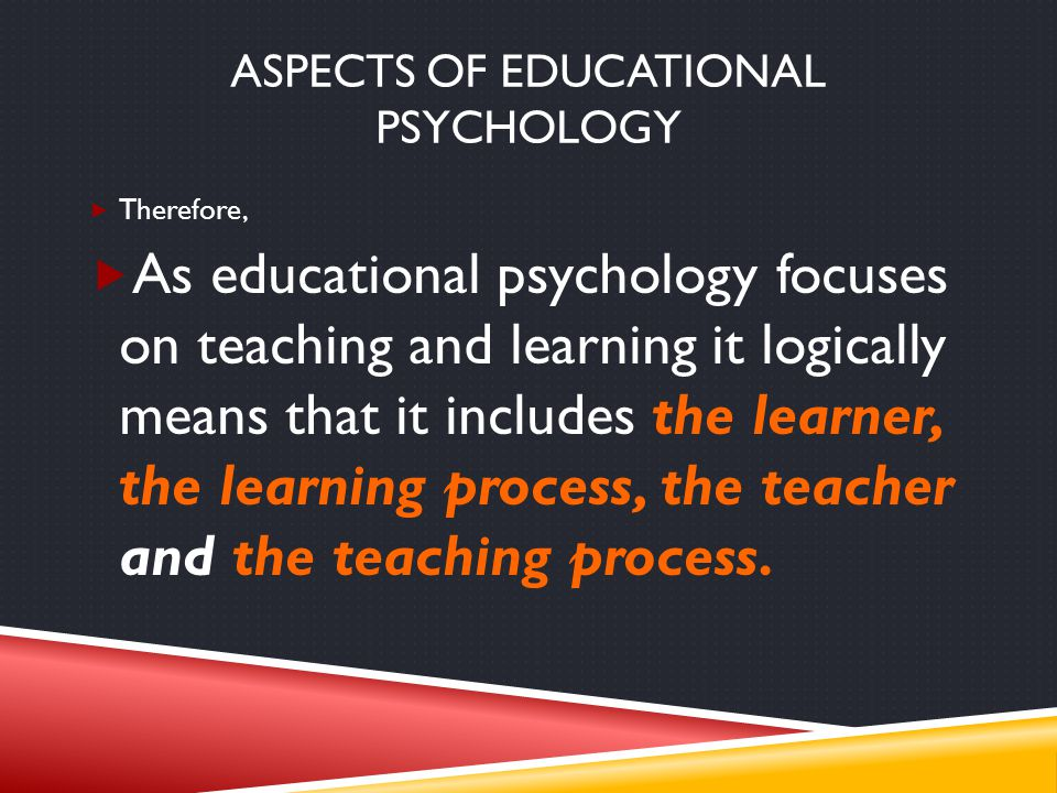 Aspects of educational psychology