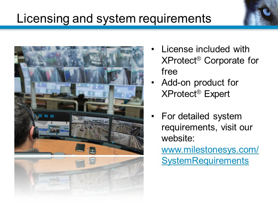 Licensing and system requirements