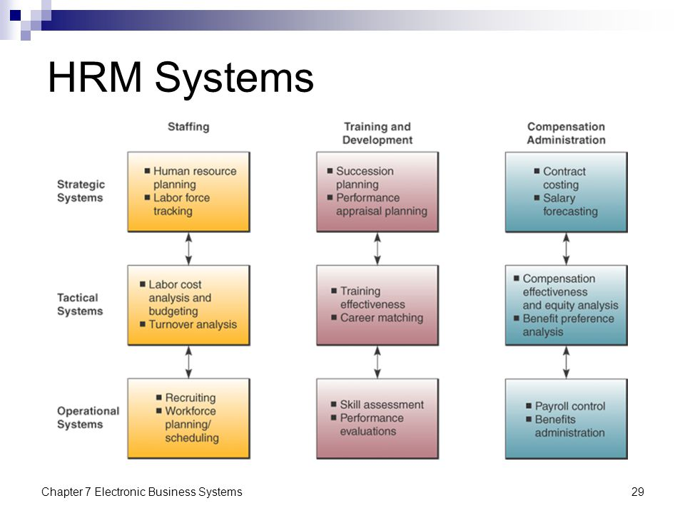 HRM Systems Chapter 7 Electronic Business Systems