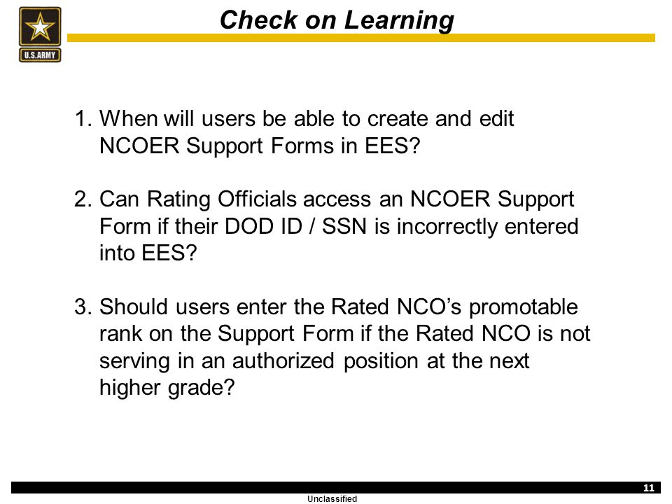 Evaluation Entry System Overview (NCOER Support Form) - ppt video ...