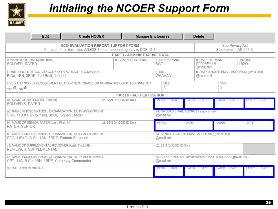 ncoer template - evaluation entry system overview ncoer support form