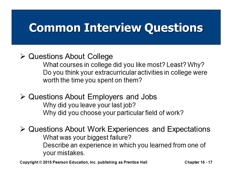 17 common interview questions questions about college what courses in college did you like most least - Do You Like Your Job What Do You Like About Your Job Or Least Like