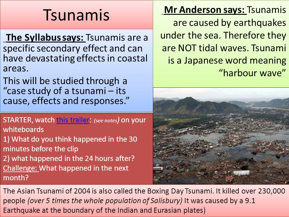 Environmental and Geological Impacts of the 26 December 2004.