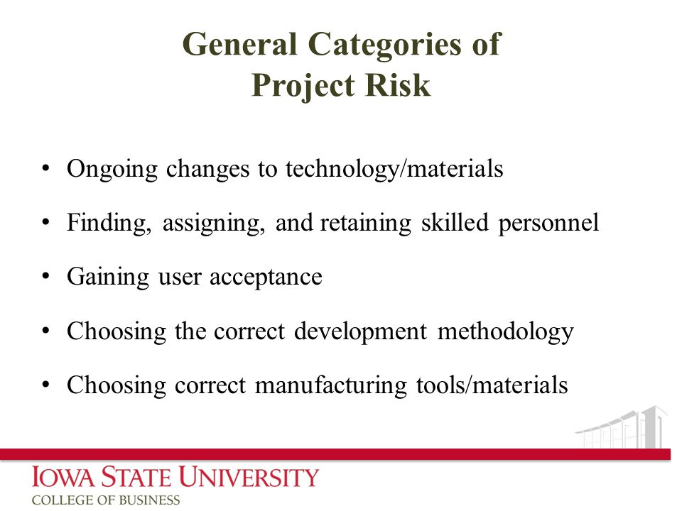 General Categories of Project Risk