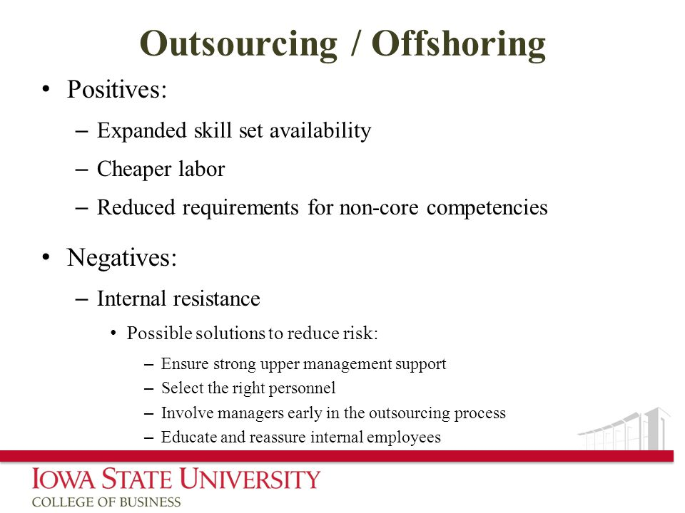 Outsourcing / Offshoring
