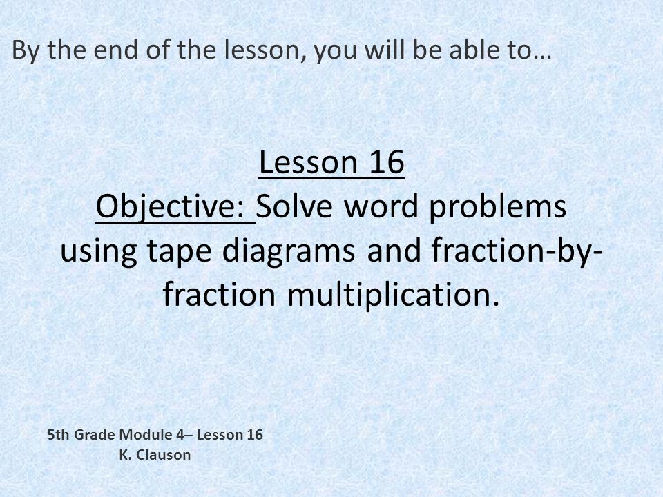 By The End Of The Lesson You Will Be Able To Ppt Video Online