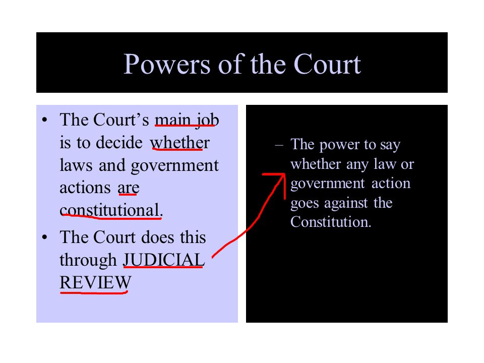 influences on judicial power 9e the power of the federal courts not everyone agrees on how much power the judicial branch should have after all, federal judges and justices are appointed, not elected.