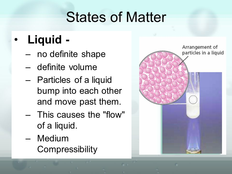 compressibility definition. states of matter liquid - no definite shape volume compressibility definition