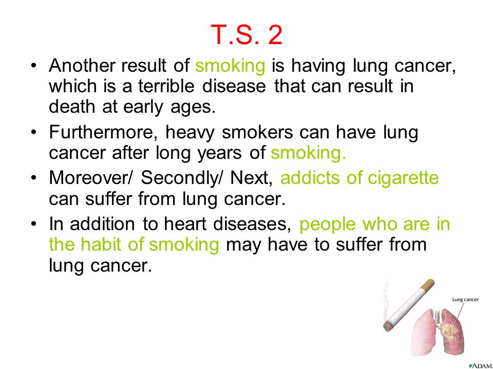 Thesis statement for smoking