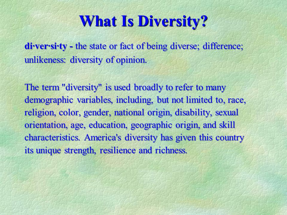 understanding diversity in the workplace Often criticized in the past as well-intentioned but stagnant, corporate diversity departments at major organizations have never been so visible with google yesterday pledging a substantial sum to code2040, a nonprofit fostering diversity in technology, and several key players in silicon valley publishing their lackluster diversity data in.
