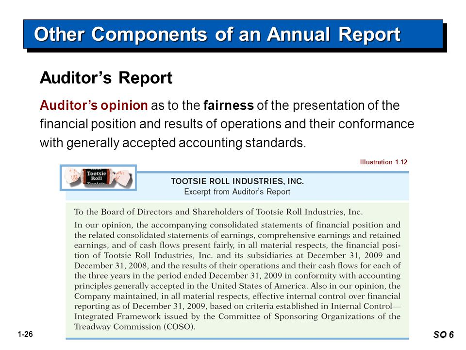 Other Components of an Annual Report